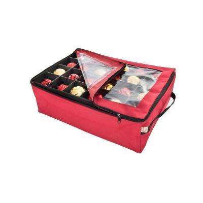 Ornament Storage Bag with Top Clear View Window (2-Tray)