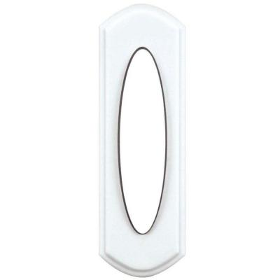 Wireless Door Bell Push Button, White
