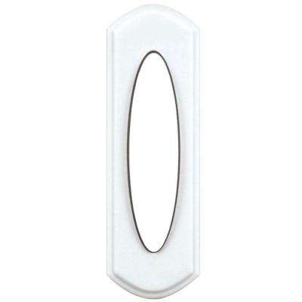 Wireless Door Bell Push Button, White