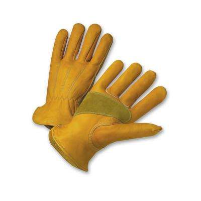 Grain Cowhide Leather Large Work Gloves
