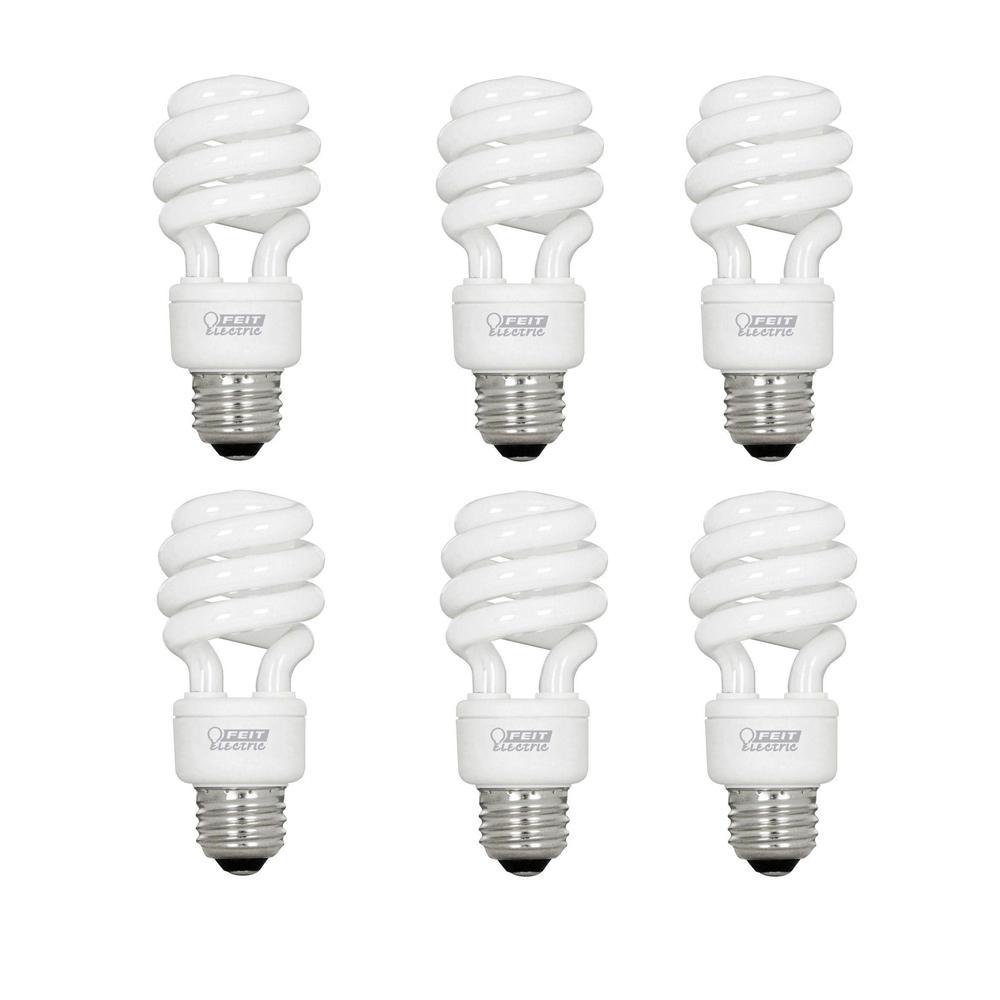 Feit Electric 60-Watt Equivalent Soft White A19 Spiral CFL Light Bulb (6-Pack)