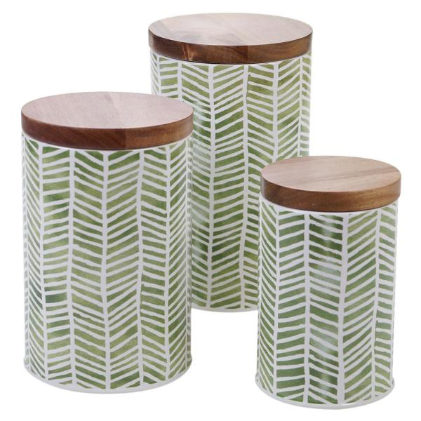 Certified International Patterns 3-Piece Ceramic Canister Set 22159