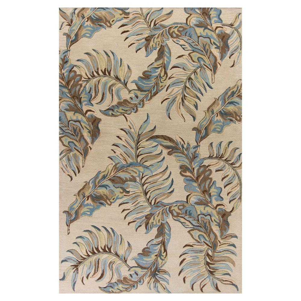 Kas Rugs Exotic Leaf Grey 5 Ft X 8 Area Rug Hav26335x8 The Home Depot