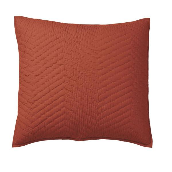 Company Cotton Flame Solid Euro Sham