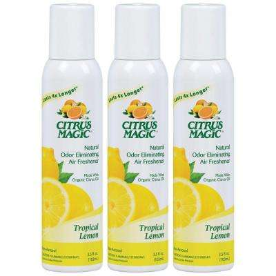 3.5 oz. Tropical Lemon All Natural Odor Eliminating Air Freshener Spray (3-Pack)