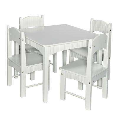 Landyn 3-Piece White Table and Chair Set
