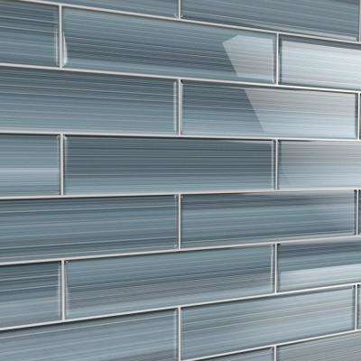 Deep Ocean 3 in. x 12 in. Glass Tile for Kitchen Backsplash and Showers (10 sq. ft./per Box)