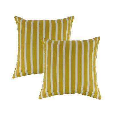 Sunbrella Shore Citron 18 in. Outdoor Pillow (Set of 2)