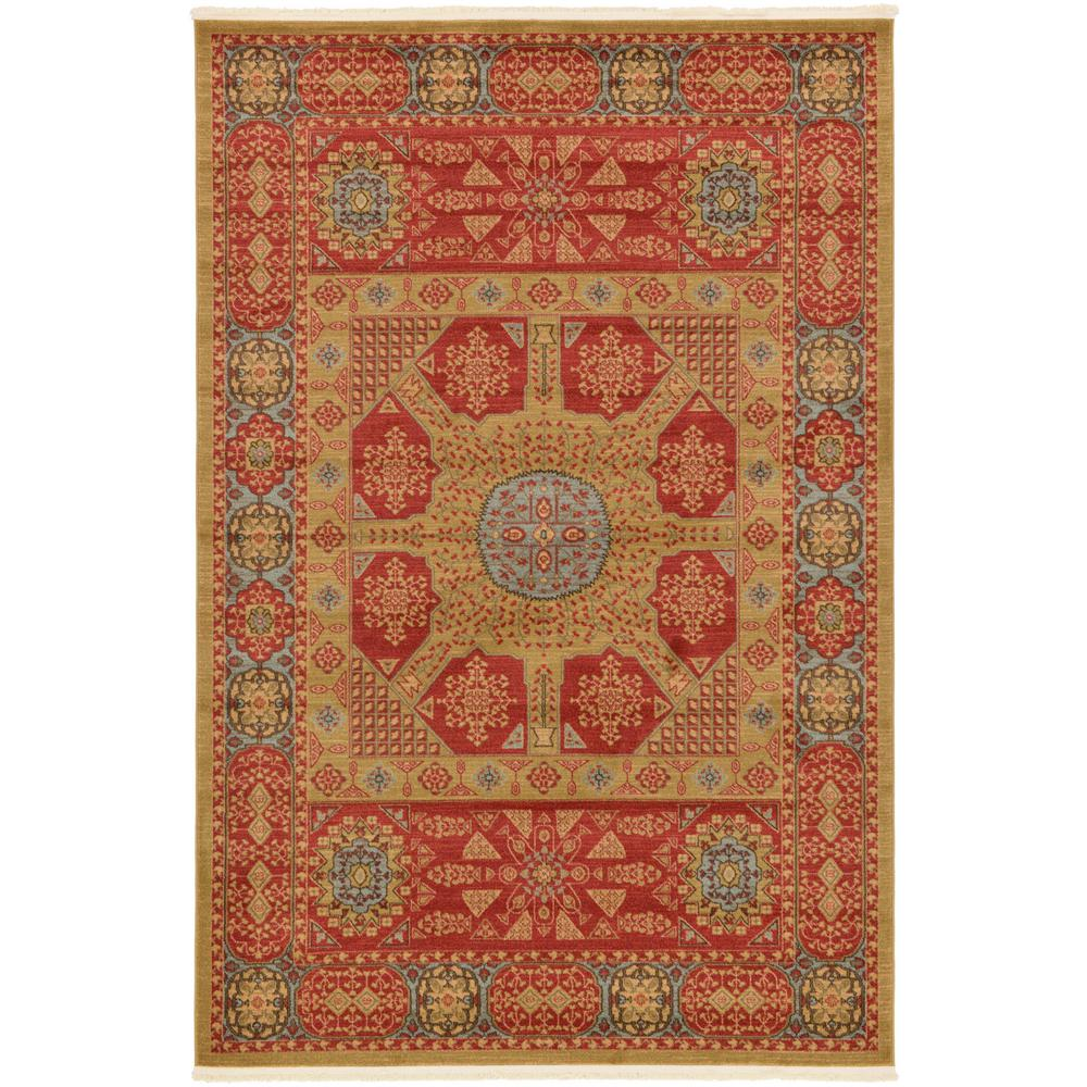 Palace Red 6 ft. x 9 ft. Area Rug