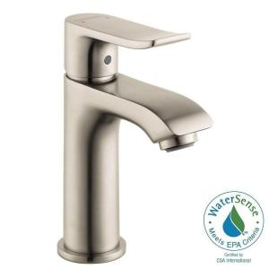 metris e 100 single hole 1handle lowarc bathroom faucet in brushed nickel - Hansgrohe Faucets