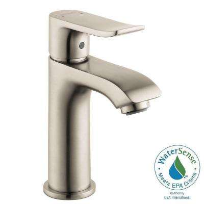 Metris E 100 Single Hole 1-Handle Low-Arc Bathroom Faucet in Brushed Nickel