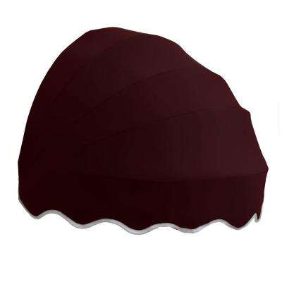 5 ft. Delaware Retractable Dome Awning in Burgundy