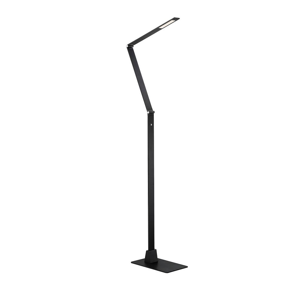 93 in. Black LED Floor Lamp with Dimmer