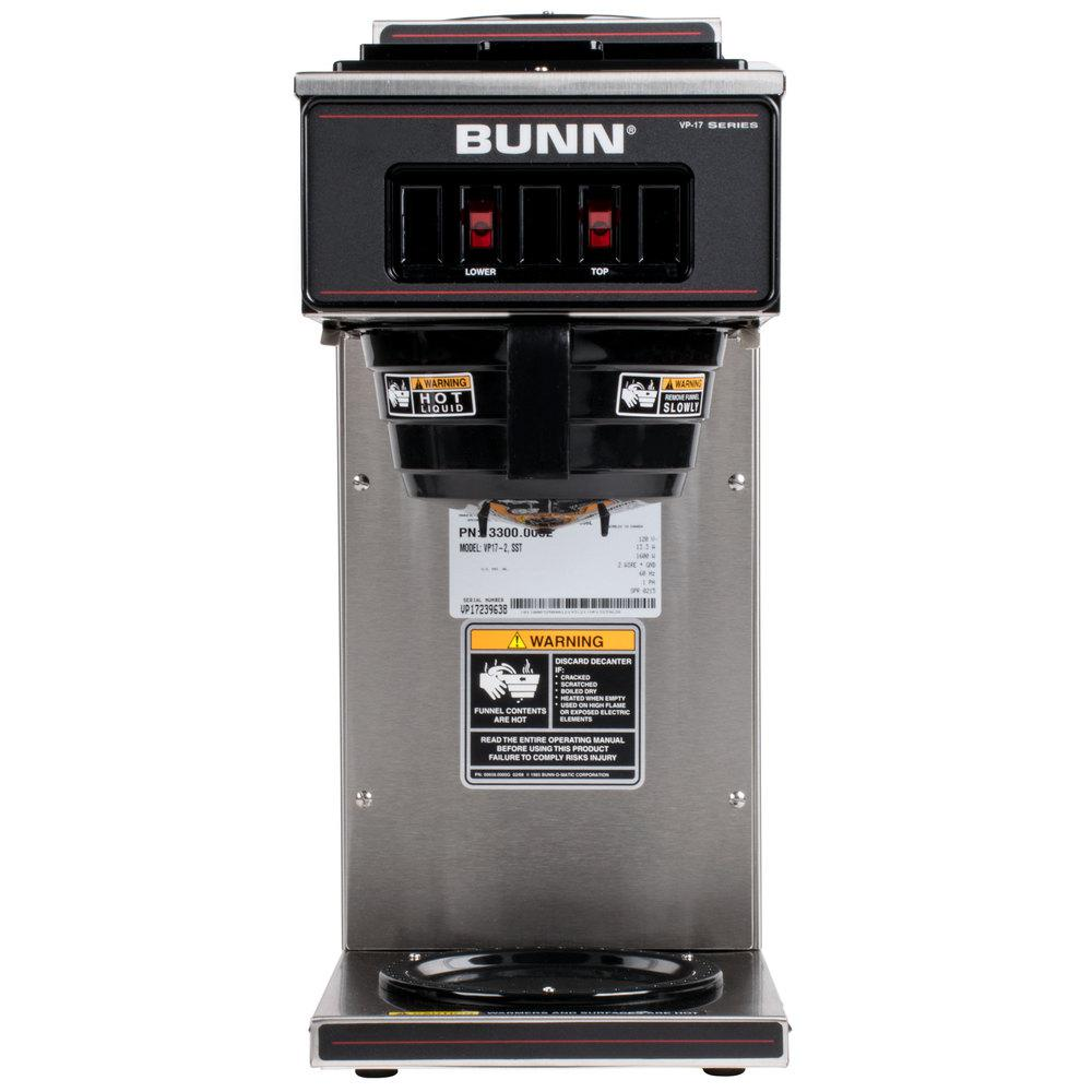 Bunn 12 Cup Pourover Commercial Coffee Brewer With 2 Warmers Vp17 2