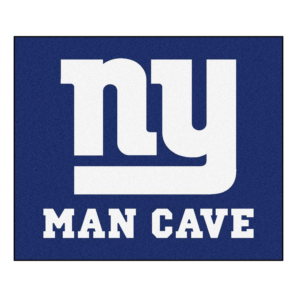 Fanmats New York Giants Blue Man Cave 5 Ft X 6 Ft Area