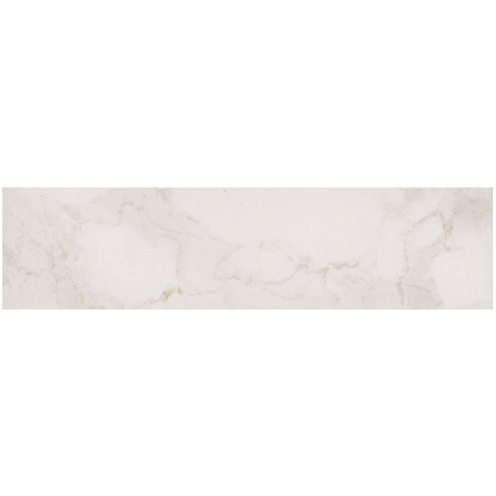 VitaElegante Bianco 6 in. x 24 in. Porcelain Floor and Wall