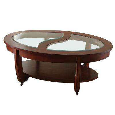 London Cherry Cocktail Table With Casters