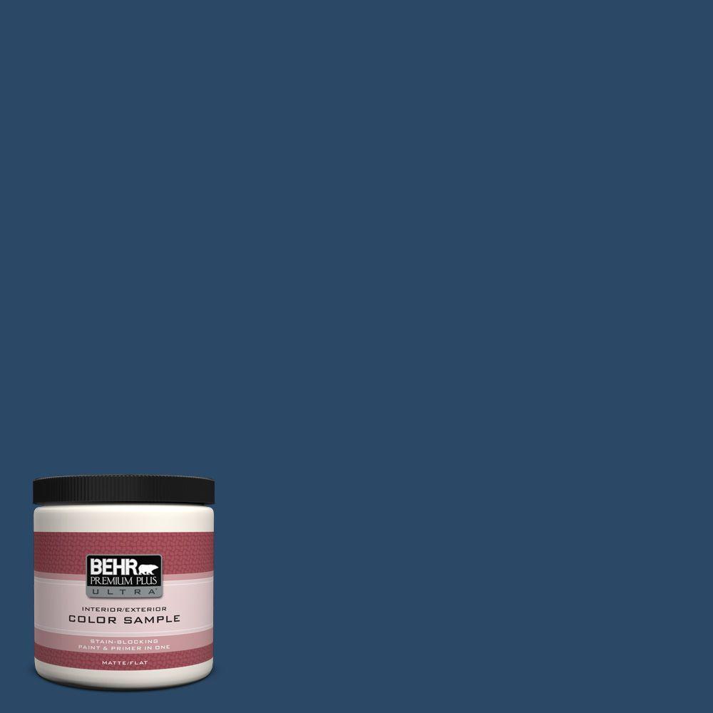BEHR Premium Plus Ultra 8 oz. #580D-7 Deep Royal Interior/Exterior Paint Sample