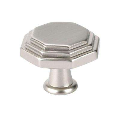 Italian Designs Collection 1 in. Satin Nickel Octagon Cabinet Knob