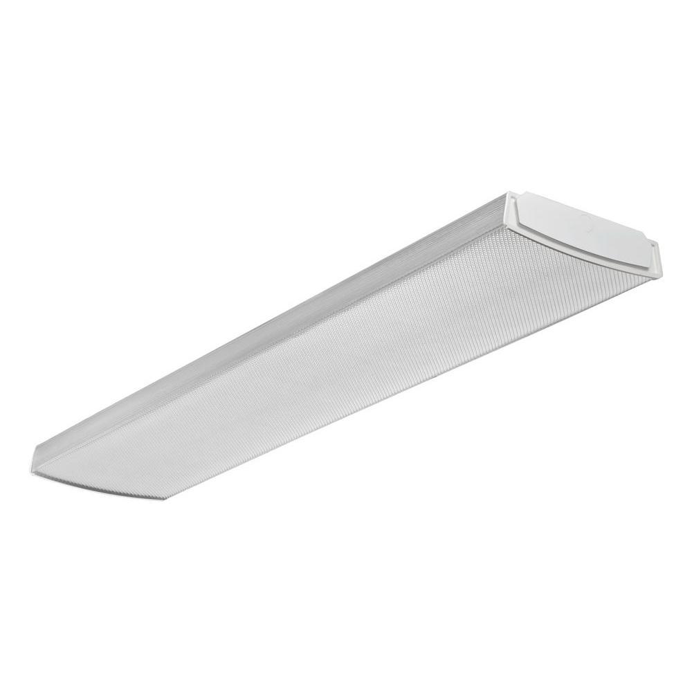 Fluorescent Light Fixtures Home Depot: Lithonia Lighting 4 Ft. 4-Light Premium Fluorescent