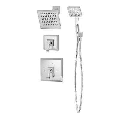Oxford 1-Spray Hand Shower and Shower Head Combo Kit in Chrome (Valve Included)