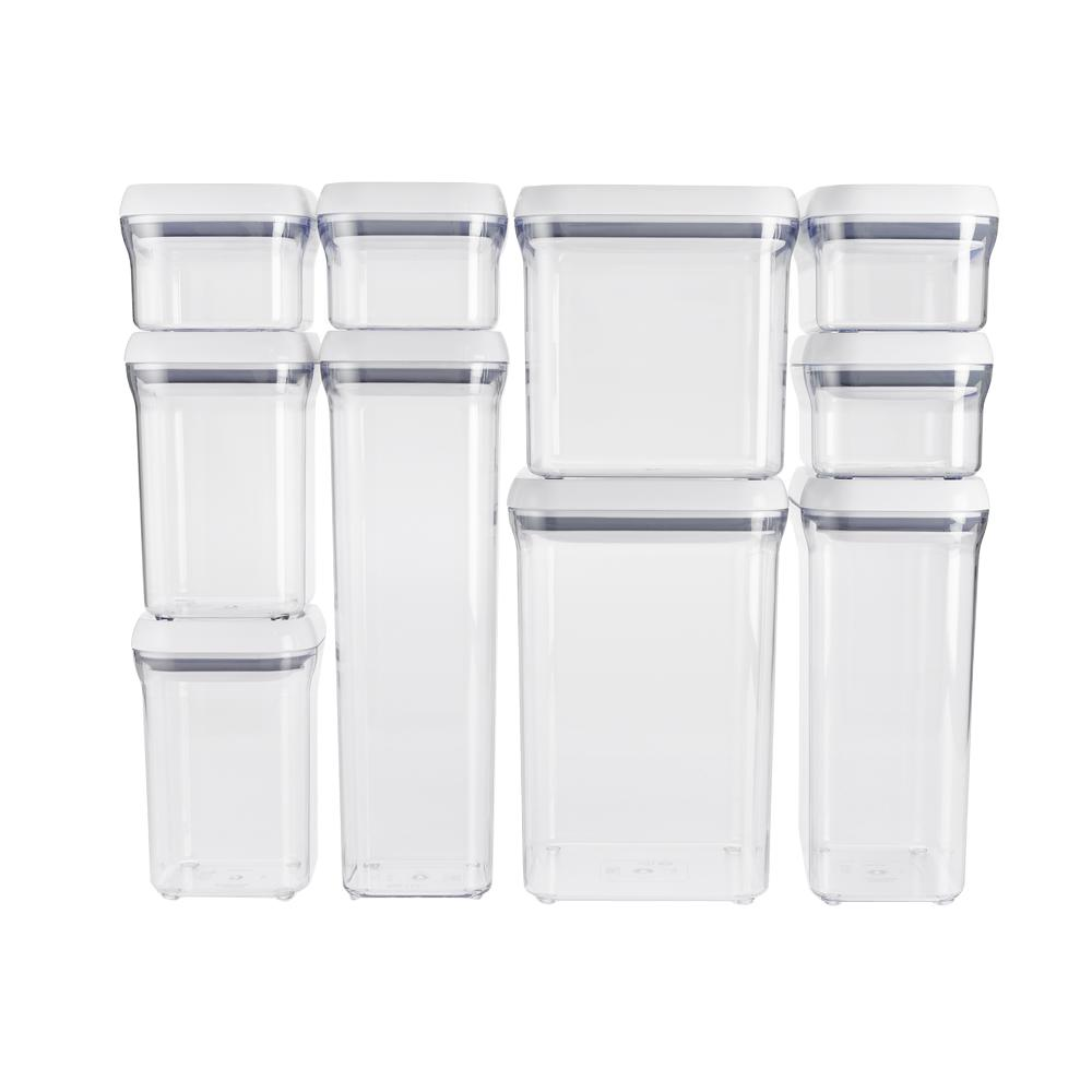 Oxo good grips 10 piece pop container set 1165700 the for Signoraware organise your kitchen set 8 pieces
