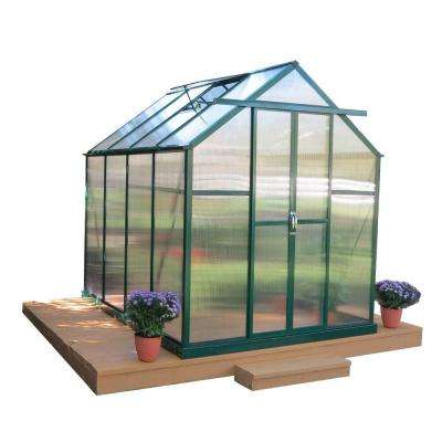 Element 6 ft. W x 8 ft. D x 7 ft. H Heavy-Duty Aluminum Greenhouse Kit with Base
