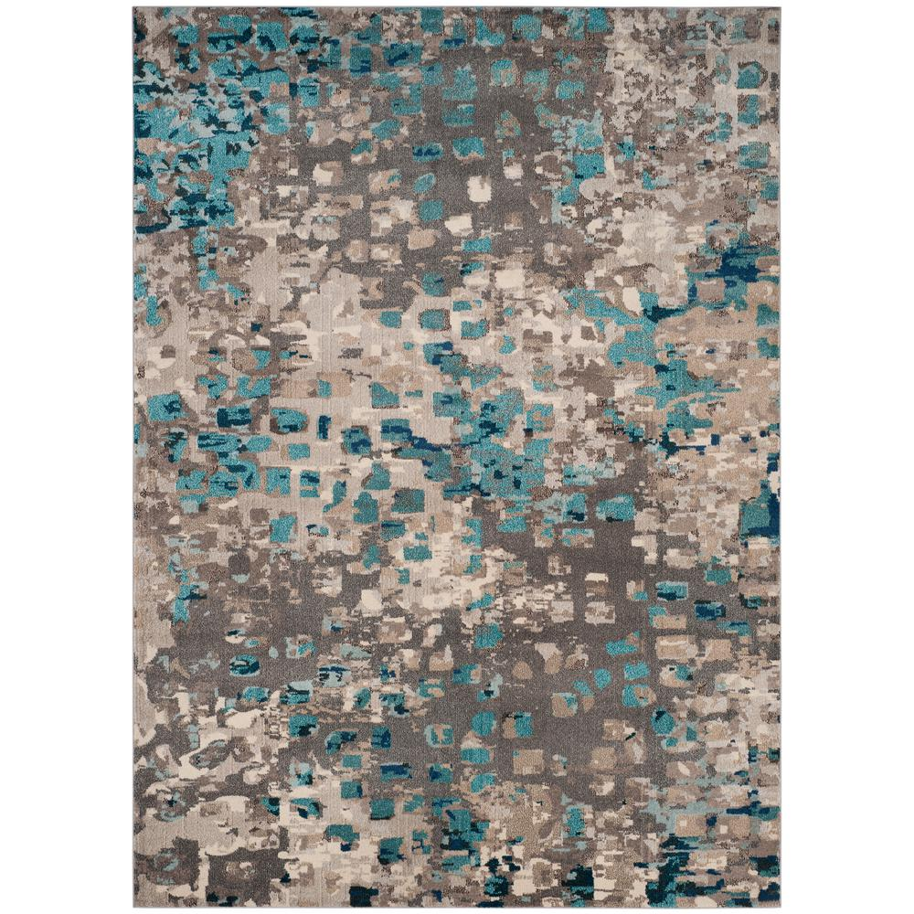 Safavieh Monaco Gray Light Blue 8 Ft X 11 Area Rug