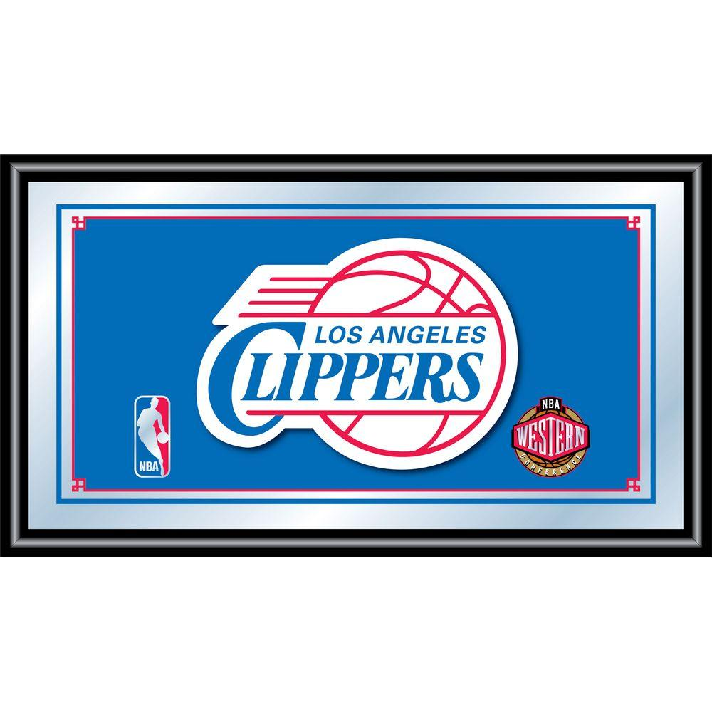 null Los Angeles Clippers NBA 15 in. x 26 in. Black Wood Framed Mirror