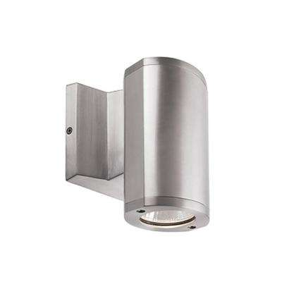 Geneva Silver Outdoor Integrated LED Wall Mount Sconce