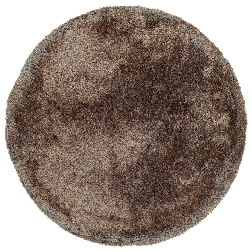 It's So Fabulous Brown 8 ft. x 8 ft. Round Area