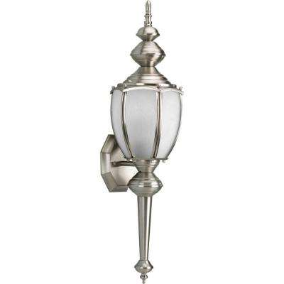 Roman Coach Collection Wall Mount Outdoor Brushed Nickel Wall Lantern
