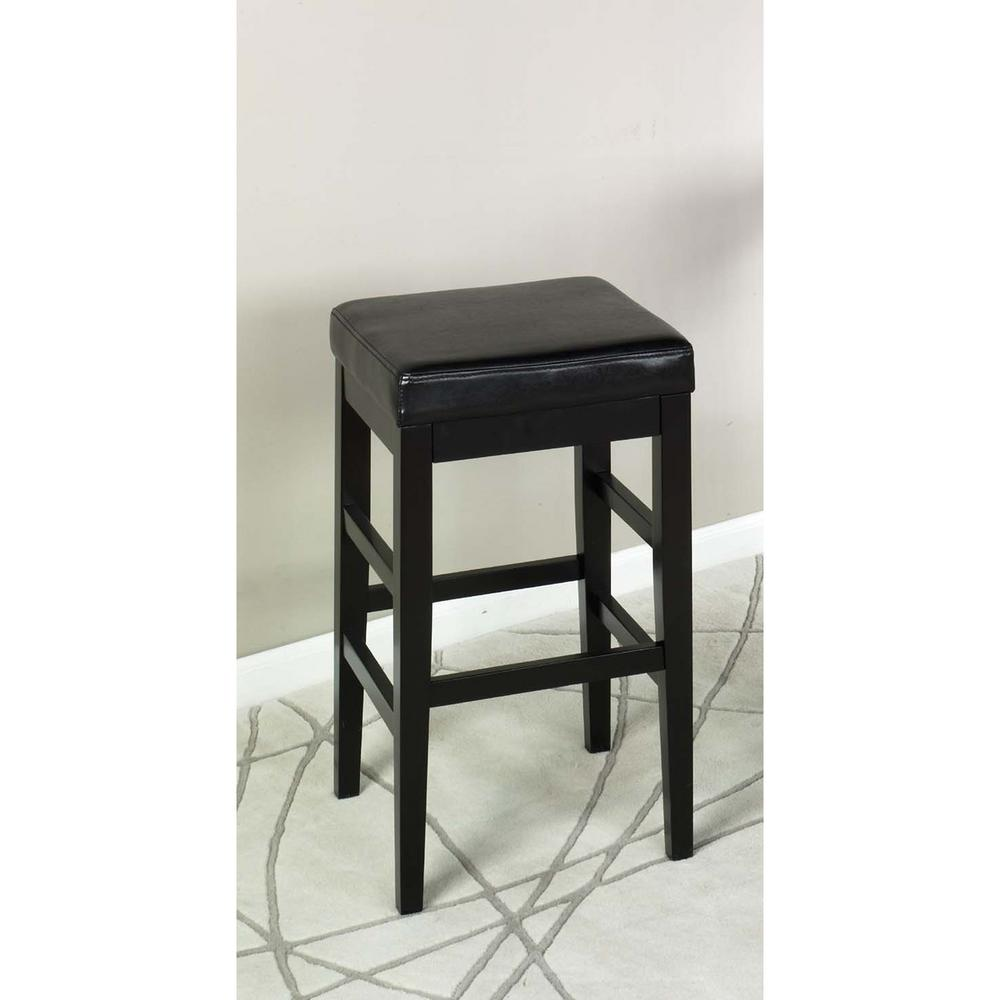 Armen Living Sonata 26 in Black Bonded Leather and  : black armen living bar stools lcstbablbl26 641000 from www.homedepot.com size 1000 x 1000 jpeg 45kB
