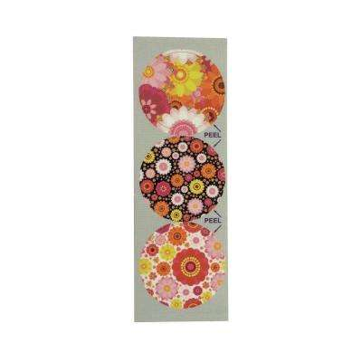 Floral Patterns Decorative Bathroom Sink Stopper Laminates (Set of 3)