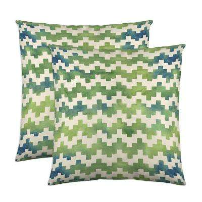 Pixie 18 in. x 18 in. Moss Decorative Pillow (2-Pack)