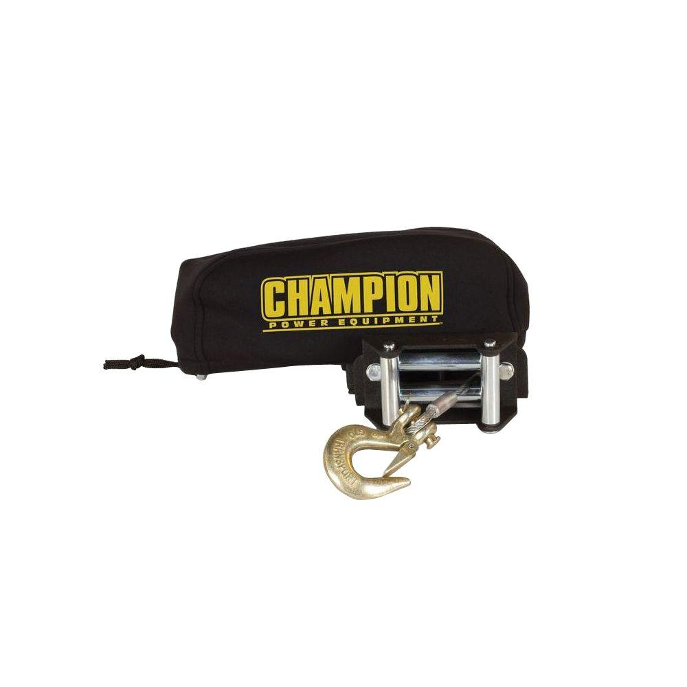 Champion Power Equipment Small Neoprene Winch Cover for 2,000 lbs  to 3,000  lbs  Champion Winches