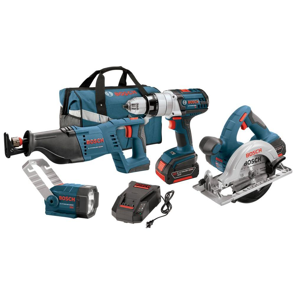 Bosch 18-Volt Lithium-Ion Combo Kit (4-Tool)