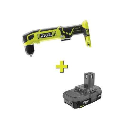 18-Volt ONE+ Cordless 3/8 in. Right Angle Drill with 1.5 Ah Compact Lithium-Ion Battery
