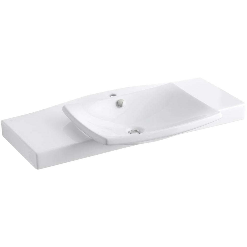 Escale 39-3/4 in. Vitreous China Single Basin Vanity Top in White