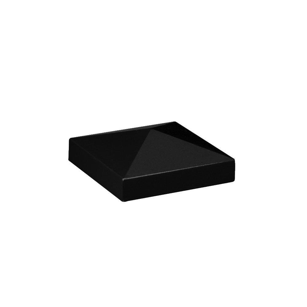 Veranda 2-1/2 in. x 2-1/2 in. Aluminum Black Pyramid Post Top