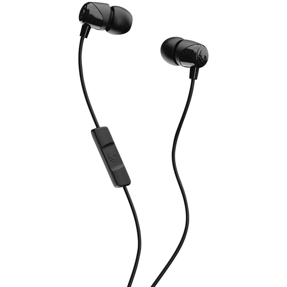 Skullcandy Jib In Ear Earbuds With Microphone In Black S2duyk 343 The Home Depot