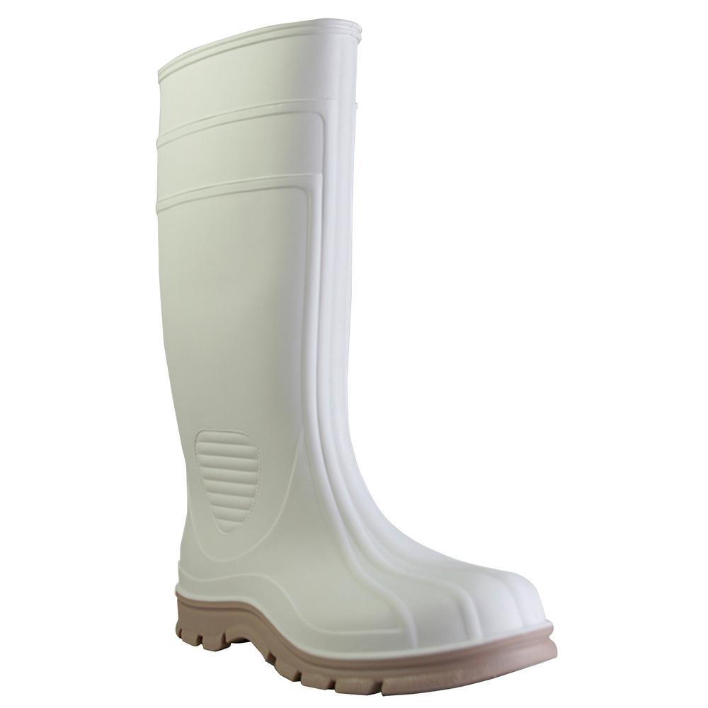 Men's Size 9 White Marine Tuff PVC Boot