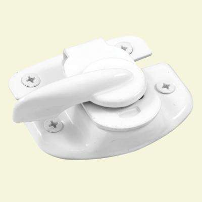 1-3/4 in. Stamped Steel Construction White Painted Finish Cam Action Window Sash Lock for Vertical Sliding Windows