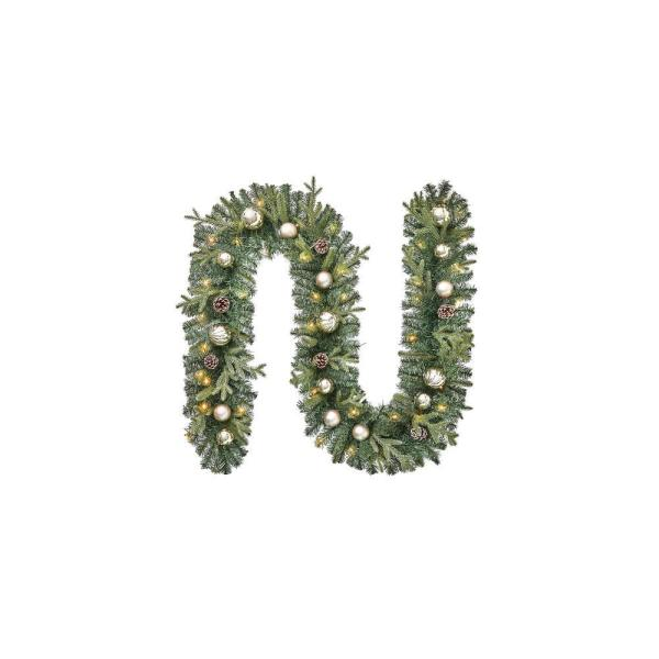 9 ft. St. Germain Battery Operated Pre-Lit LED Artificial Christmas Garland