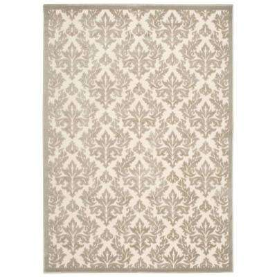 Ultima Ivory/Silver 5 ft. x 7 ft. Area Rug