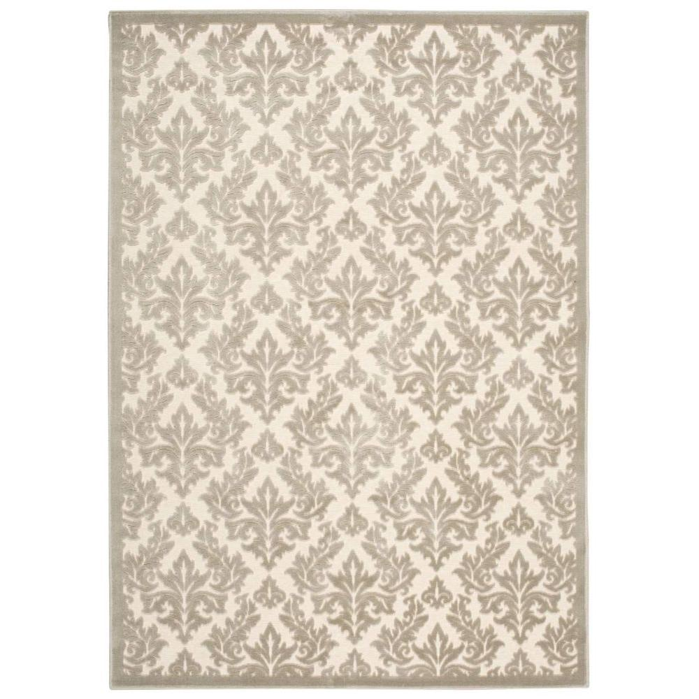 Ultima Ivory/Silver 3 ft. 6 in. x 5 ft. 6 in. Area Rug