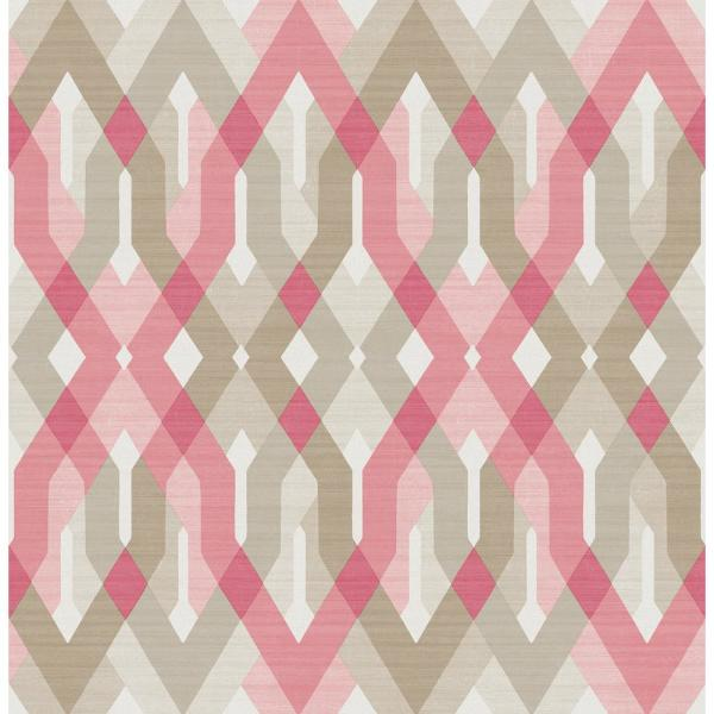 Dante, Harbour Pink Lattice Wallpaper