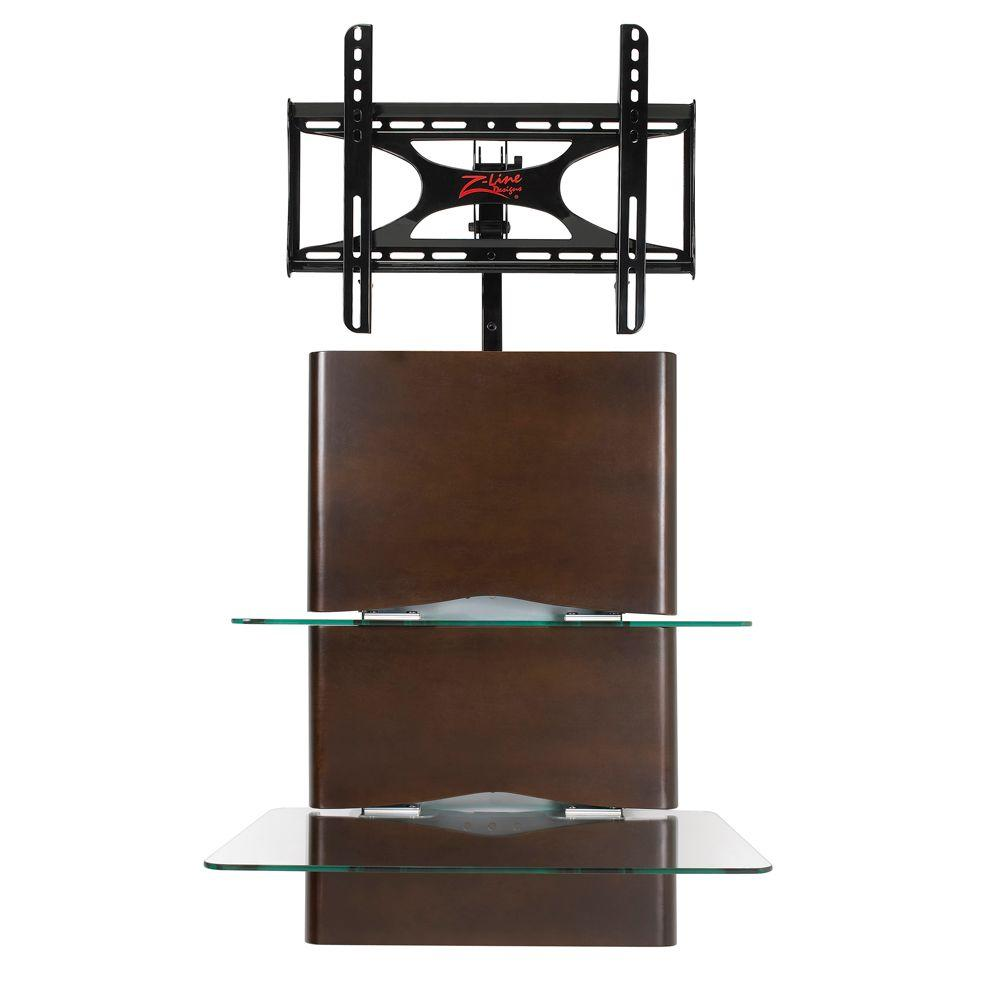 Z-Line Designs Espresso Wall Furniture System with Integrated Mount-DISCONTINUED