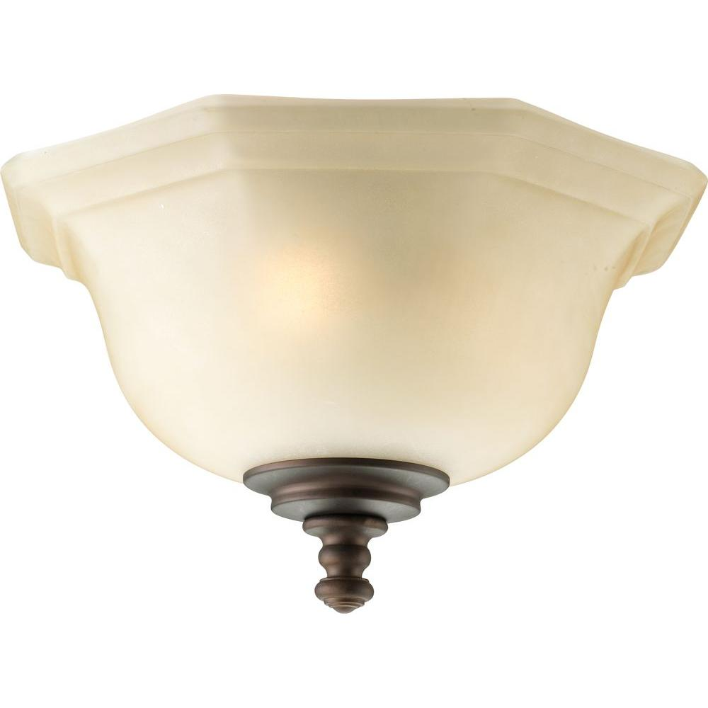 Progress Lighting Guildhall Collection 3-Light Roasted Java Ceiling Fan Light