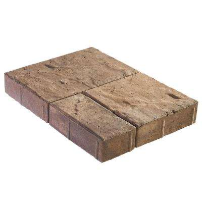 Panorama Demi 3-pc 7.75 in. x 7.75 in. x 2.25 in. Chesapeake Blend Concrete Paver (240 Pcs. / 103 Sq. ft. / Pallet)